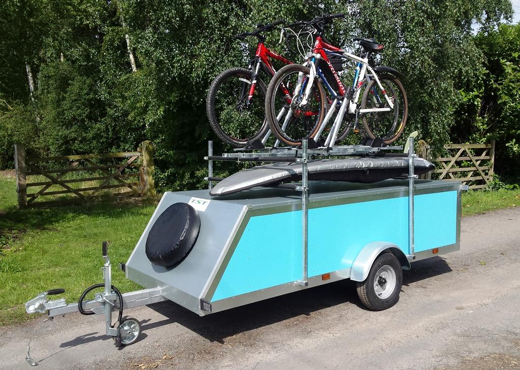 Trailer Bike Rack >> Tow Bar Mounted Bike Carrier With Trailer Singletrack